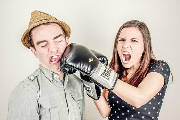 Streiten-Mann-Frau