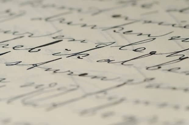 Handschrift, marketing, briefe