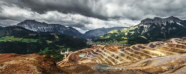 Bergbau-Männerjob