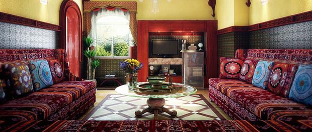 Orientalische-Einrichtungsstil