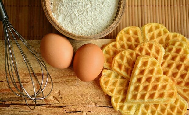 Waffel-Eier