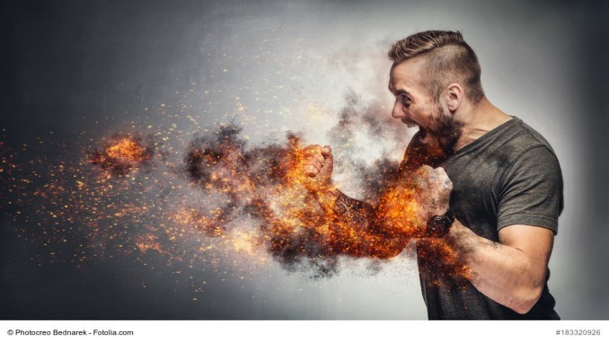 Männer mit der inneren Spannung