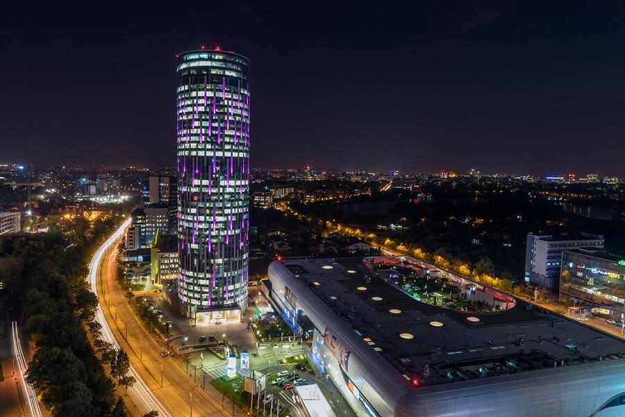 Bukarest bei Nacht