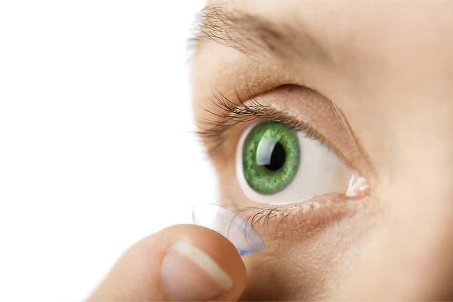 Grüne Kontaktlinsen