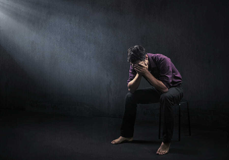 Mann emotionale Belastungsprobe