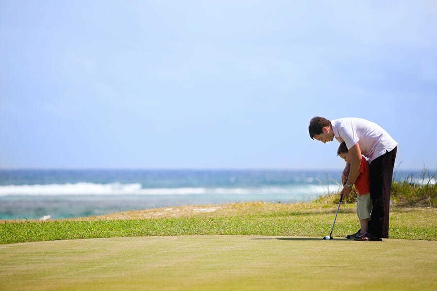 Vater Sohn Golf