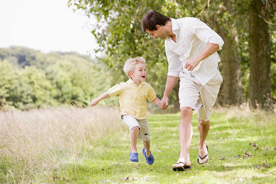 Vater und Sohn – Geocaching
