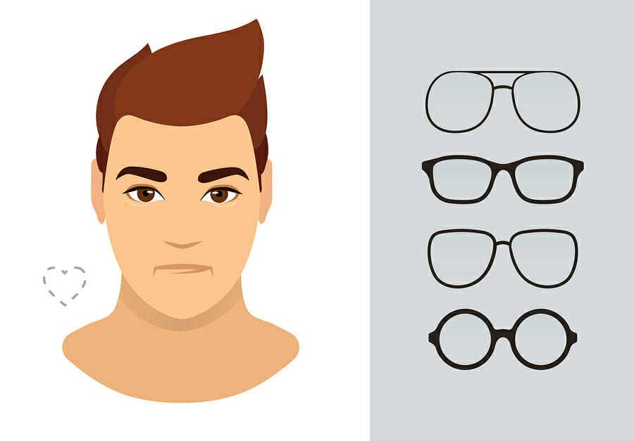 Brille für herzförmiges Gesicht