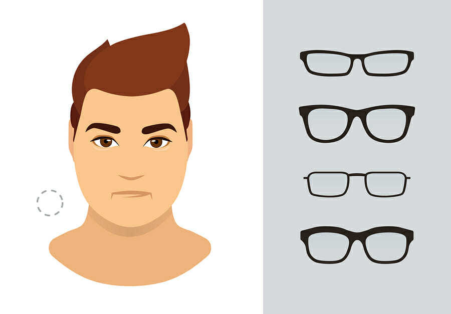 Brille für runde Gesichter