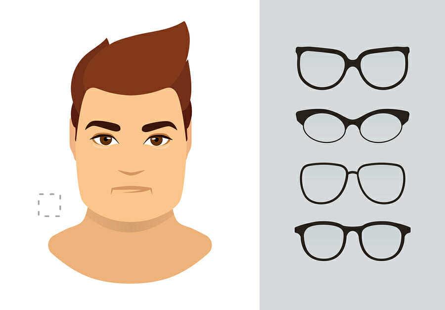 Brillen für eckige Gesichter