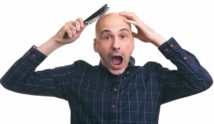 Haar in der Heilungsphase