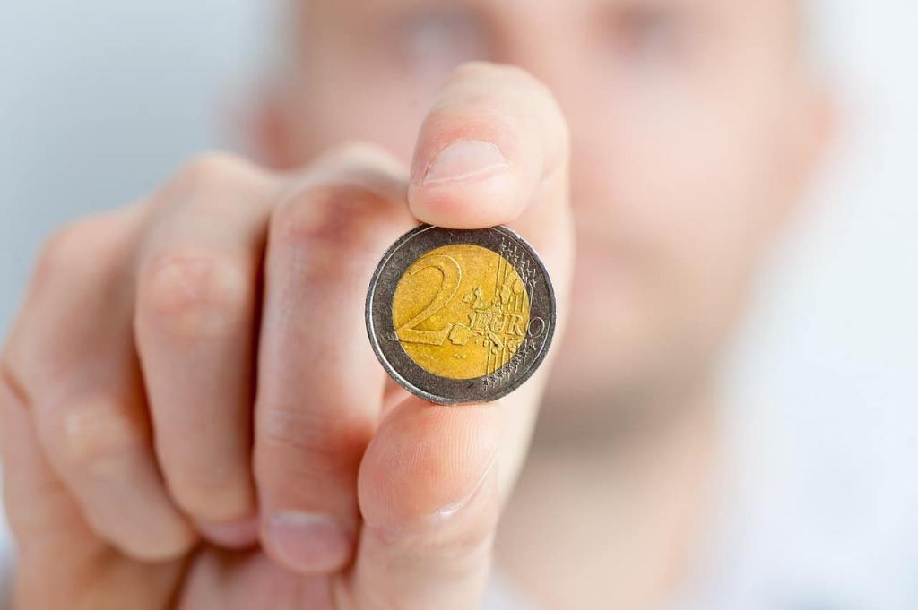 Geld Zwei Euro