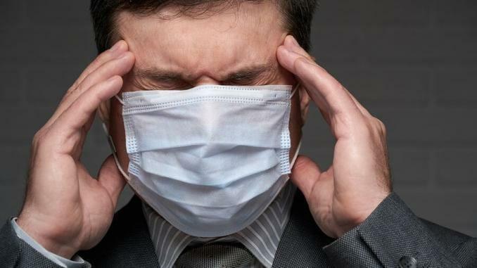 Kopfschmerzen durch Atemschutzmasken