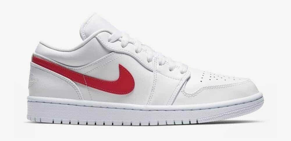 Air Jordan 1 Low White Red