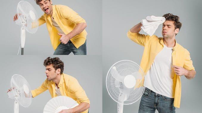 Ventilator mit Sprühnebel