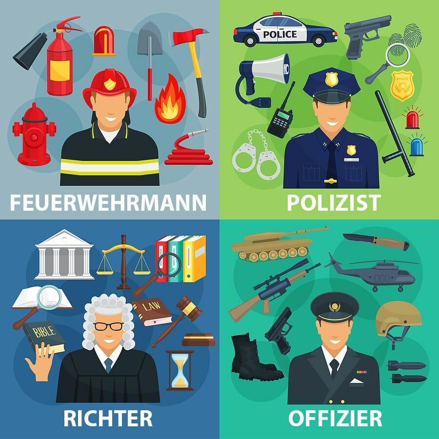 Uniformierte Berufe
