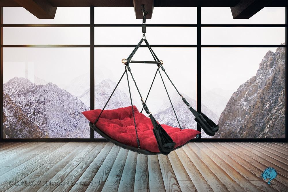 Liebesschaukel-Wohnzimmer
